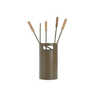 Εργαλεία με Κουβά Ζωγομετάλ K32-1240 σε Καφέ Ελιάς-Ξύλο Ελιάς