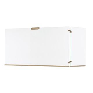 Γυάλινη Κάλυψη τζακιού 563 σε Νίκελ Ματ 50x80+30cm