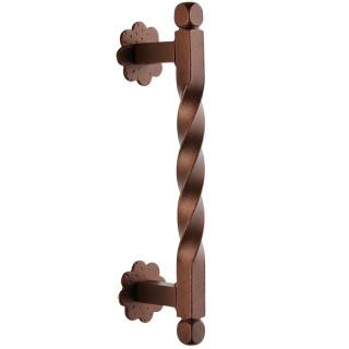 Λαβή εξώπορτας ρουστίκ σειρά 217 Μήκος 29.4cm Αντικέ σκουριά