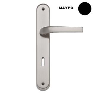 Πόμολο πόρτας χειρολαβή με πλάκα 302 Μαύρο χρώμα