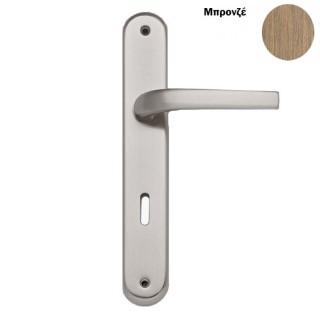 Πόμολο πόρτας χειρολαβή με πλάκα 302 Μπρονζέ
