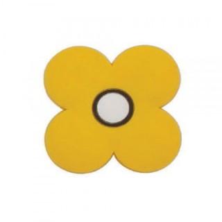 Παιδικό Πομολάκι Επίπλου Λουλούδι Κίτρινο Roline 601