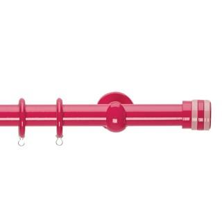 Κουρτινόξυλα Zωγομεταλ Φ25 CP4132 Φούξια/Ροζ