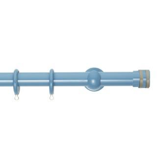 Κουρτινόξυλα Zωγομεταλ Φ25 CP4132 Γαλάζιο/Γκρί