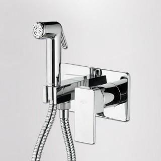 Μίκτης εντοιχισμού 2 οπών με ντουζάκι Flush mix Profili 45211