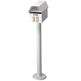 Γραμματοκιβώτιο Λευκό Ζυρίχη 150 με κολώνα
