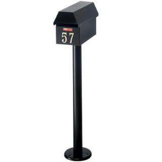 Γραμματοκιβώτιο Μαύρο Ζυρίχη 150 με κολώνα