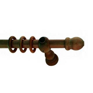 Ξύλινα κουρτινόξυλα ΚΑΡΥΔΙΑ Φ28 120cm